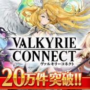 エイチーム、『ヴァルキリーコネクト』事前登録数が5月19日から12日間で20万人を突破!