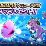 バンナム、『デジモンリアライズ』が日本版、グローバル版合算で1000万DLを達成! 特別な「ドルモン」に育つデジタマのプレゼントなどを実施
