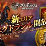 ゲームヴィルジャパン、『ドラゴンスラッシュ』で新コンテンツ「ギルド占領戦」「ギルド略奪戦」を実装 新エリア「ユグドラシル」を解放