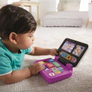 マテル・インターナショナル、遊んで学べるバイリンガル知育玩具「バイリンガル・にこにこ!パソコン」を11月上旬より発売!