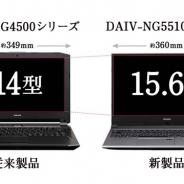マウスコンピューター、薄さ約2cmのクリエイターPC「DAIV-NG5510」シリーズを販売開始 GTX1050搭載で14万9800円(税別)から