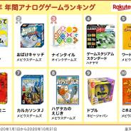 楽天、「楽天ブックス」におけるアナログゲームの売上は約10.3倍に伸長…家族で遊べるアナログゲームが人気に