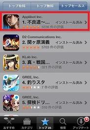 アプリボットのiPhone用ソーシャルゲーム『不良道』がApp Storeトップセールス首位獲得!