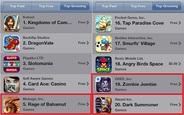 今週末の米国AppStoreの売上ランキング…「Rage of Bahamut」や「Zombie Jombie」などに注目