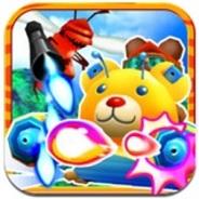 コロプラ、弾幕シューティング『B.B.クマ!』のiPhoneアプリ版をリリース