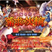 DMM GAMES、『神姫PROJECT A』で最高レアのSSR幻獣や水着SR神姫が貰えるレイドイベント「暖海を往く希求の火輪」を開始!