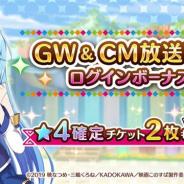 サムザップ、『このファン』で「GW&CM放送記念キャンペーン」を開催 「★4確定チケット2枚」配布や「1人★4確定ガチャ」を実施