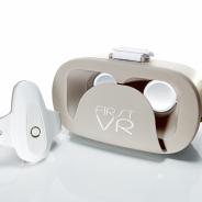 東大発ベンチャーH2L、VRゴーグル『FirstVR』の一般販売を開始 筋変位センサで自分の腕がコントローラに