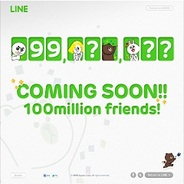NHN Japanの『LINE』、1月18日中に全世界1億ユーザーを達成する見通し…カウントダウンサイトを開設