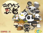 Com2uS、iOS向けアクションRPG『今日から忍者』の配信開始