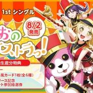 Craft Eggとブシロード、『バンドリ! ガールズバンドパーティ!』で「ハロー、ハッピーワールド!」1stシングル発売を記念して「スター」×100をプレゼント!