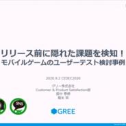 【CEDEC 2020】グリーが「ユーザーテスト」の有用性を数値に分析して解説…『シノアリス』『戦姫絶唱シンフォギアXD』での事例も紹介