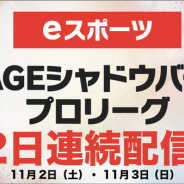 CyberZ、「RAGE Shadowverse Pro League 19-20 セカンドシーズン」第2節(11月2日)と第3節(11月3日)をOPENRECで配信!