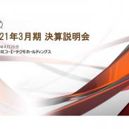 【決算レポート】コーエーテクモHD、21年3月期は売上・利益とも過去最高 欧米&DL販売の伸び顕著 『三國志』IPがスマホゲームの急拡大けん引