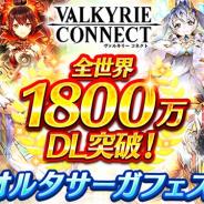 エイチーム、『ヴァルキリーコネクト』が世界累計1800万DLを突破! 「全世界1800万ダウンロード記念キャンペーン」を開催