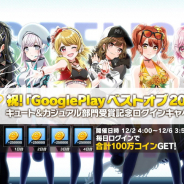 ブシロード、『D4DJ Groovy Mix』Google Playベストオブ2020キュート&カジュアル部門受賞を記念して最大100万コインがもらえるログインキャンペーン!