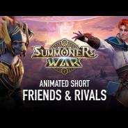 GAMEVIL COM2US Japan、『サマナーズウォー : Sky Arena』の1億DLを記念した短編アニメ「仲間とライバル」を公開!
