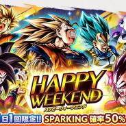 バンナム、『ドラゴンボールレジェンズ』でSP確率50%のガシャ「HAPPY WEEKEND」を開催!