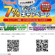 NTTコムオンライン運営のポイントサイトPotoraが業界最高クラスのポイント還元率7%バックキャンペーンを開始