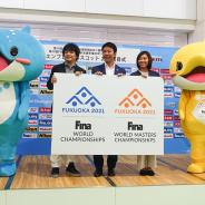 レベルファイブ制作・ネーミング考案の第19回FINA世界水泳選手権2021福岡大会マスコット「シーライ」と「シャーニー」が発表