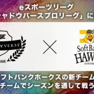 eスポーツプロリーグ「RAGE Shadowverse Pro League」に福岡ソフトバンクホークスが参戦! 新しいeスポーツチームを設立