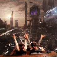 ラグーナテンボス、HMDを装着し乗車する次世代コースター『未来都市~High up in the Sky~』を発表 未来都市を駆け巡る体感型VRアトラクション
