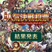 gumi、『クリスタル オブ リユニオン』の「第3回英雄人気決戦投票」結果を発表 4月6日開催のリアルイベント新情報も公開