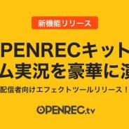 CyberZ、「OPENREC」で配信者向けエフェクトツール「OPENRECキット」をリリース