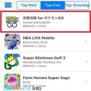 『Pokémon GO』の日本語攻略アプリ『究極攻略 for ポケモンGO』がフランスApp Store無料ランキングで首位に