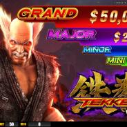 バンナムアミューズメント、LT Gameと共同で鉄拳のカジノゲーミングマシン『TEKKEN VIDEO SLOT』を開発…MGS2018で3バージョンを公開
