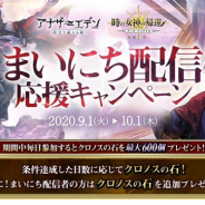 WFS、『アナザーエデン』で「まいにち配信応援キャンペーン第3弾」を開催 最大600個のクロノスの石をプレゼント!