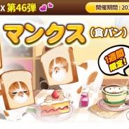 ESTgames、『マイにゃんカフェ』で新種猫「マンクス(食パン)」が初登場する期間限定ガチャ第46弾を実施