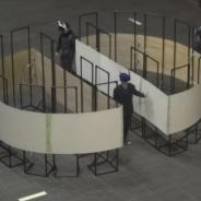 「空間内を無限に歩く」体験型VR、デジタルコンテンツEXPOに展示決定 工事中の高層ビルの足場の上を自分の足で探索