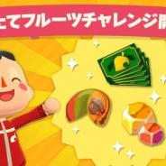 任天堂、『どうぶつの森 ポケットキャンプ』でスペシャルチャレンジ「もぎたてフルーツチャレンジ」を開始!