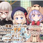 『きららファンタジア』で作家クエストが明日より登場! 第1弾は「NEW GAME!」得能正太郎氏による「PECO -A trial version-」に! 第2弾も早くも発表に!