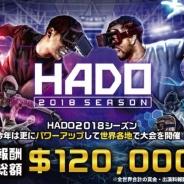 ARスポーツ『HADO』の2018シーズン開幕 報酬総額120,000米ドルに