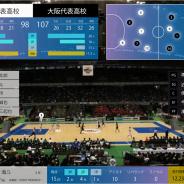 ソフトバンク、バスケットボール大会で5Gのプレサービスを提供 トラッキングした選手の位置やスタッツ情報などを表示