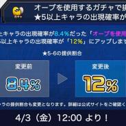 ミクシィ、『モンスト』でオーブ使用のガチャで排出される★5以上キャラの出現確率が8.4% → 12%に…明日12時以降から
