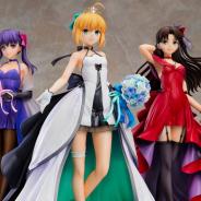 グッスマ、『Fate/stay night』15周年プロジェクトとして武内崇氏デザインのドレスを身に纏った「セイバー」「遠坂凛」「間桐桜」を立体化!