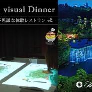 ルクサ、『Taste in visual Dinner ~ちょっと不思議な体験レストラン~』を販売 プロジェクションマッピングによるVR体験付きの食べるエンタメ