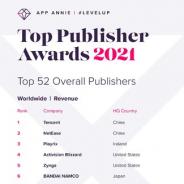 ネットマーブル、App Annie「トップパブリッシャーアワード」でグローバルモバイルゲームパブリッシャーランキング8位に選出