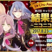 リベル、『アイ★チュウ』で開催した第2回キャラクター総選挙「I★Chu Award ~2017~」の上位入賞者の発表をニコ生で8月23日22時より配信
