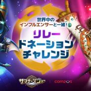 GAMEVIL COM2US Japan、『サマナーズウォー: Sky Arena』で世界中のインフルエンサーと共に寄付活動に参加!「リレードネーションチャレンジ」開催