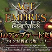 KLab、『AoE: World Domination』でオンライン対戦正式版「アリーナ」をリリース ランキングイベント開催など記念キャンペーンを実施!