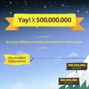 韓国Kakao、メッセージングアプリ『Kakao』の累計ダウンロード数が5億を突破...「Kakao Games」パートナー企業は230社 ゲームタイトルは467本