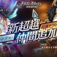 ゲームヴィルジャパン、『ドラゴンスラッシュ』で超越降臨仲間「超越マナランディ」「超越ドランクンファルコン」の追加を含むアップデートを実施