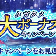 gumi、『誰ガ為のアルケミスト』で幻晶石やゲーム内アイテムが大量に入手できる「タガタメ冬の大ボーナスキャンペーン」を実施