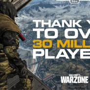 アクティビジョン、『コール オブ デューティ ウォーゾーン』のプレイヤー数が3000万人を突破
