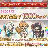 Cygames、『プリコネR』公式Twitterでリツイートキャンペーンを開催 本日21時までに5万RT達成で全ユーザーにジュエル1500個をプレゼント!