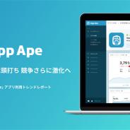 【フラー調査】「App Ape」の分析データを活用したスマホアプリの利用トレンドレポートを発表…一人当たりの所持・利用アプリ数は横ばい傾向に